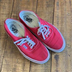 Vans classic red sneakers old school vintage look